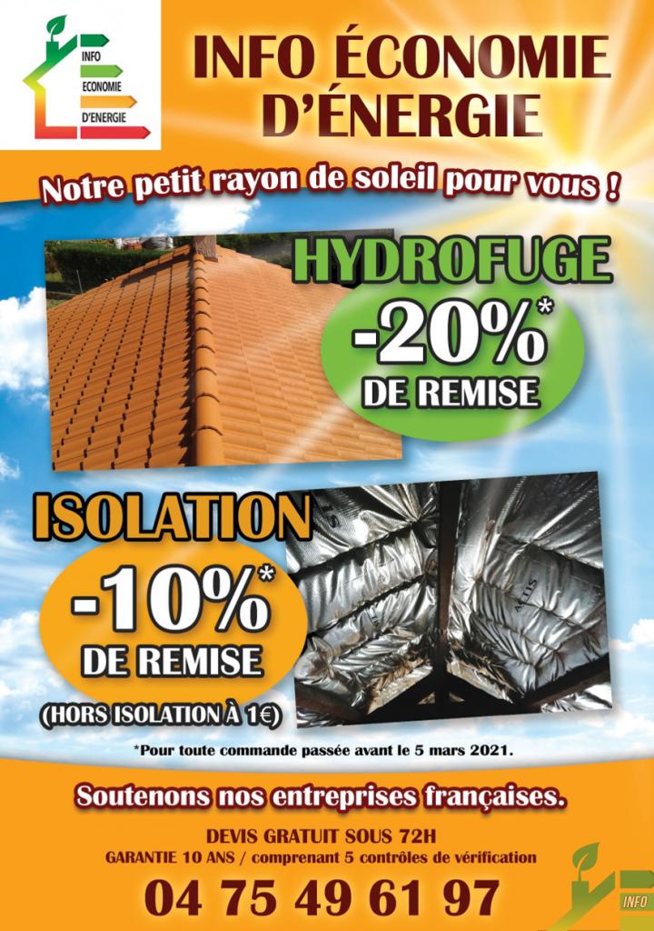 -20% hydrofuge et -10% isolation