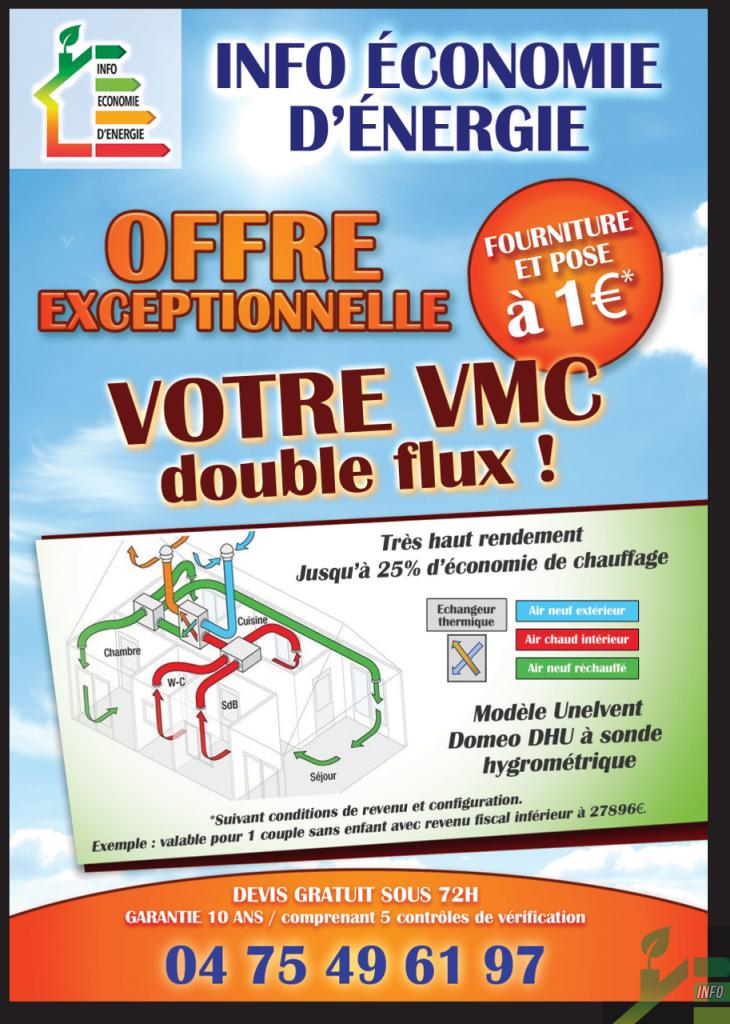 VMC DOUBLE FLUX 1€
